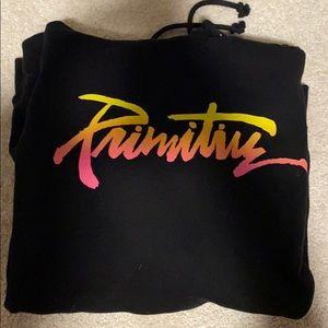 PRIMITIVE SWEATSHIRT! RAINBOW PRINT